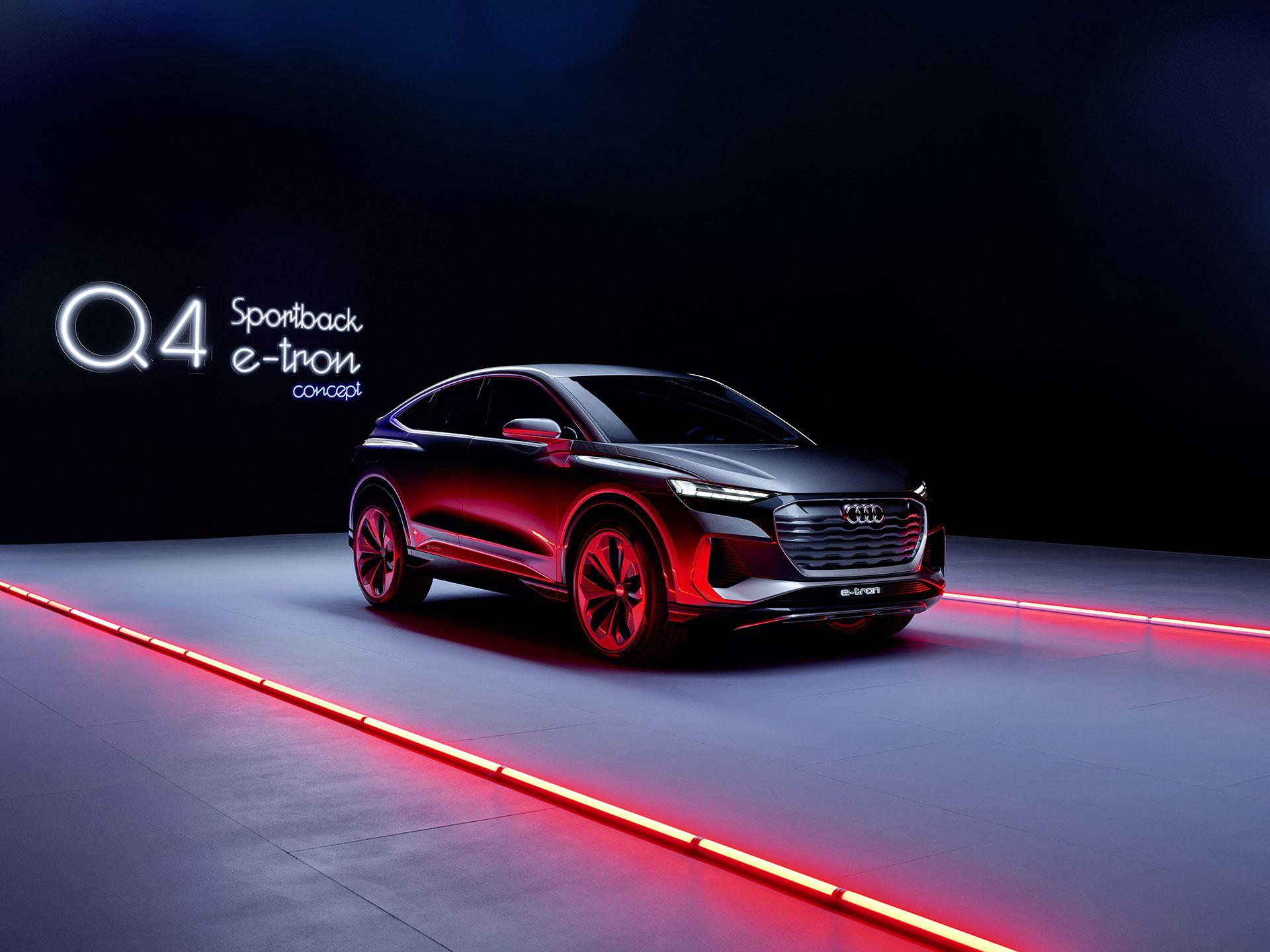 2020, audi, concept, q4, e-tron, sportback